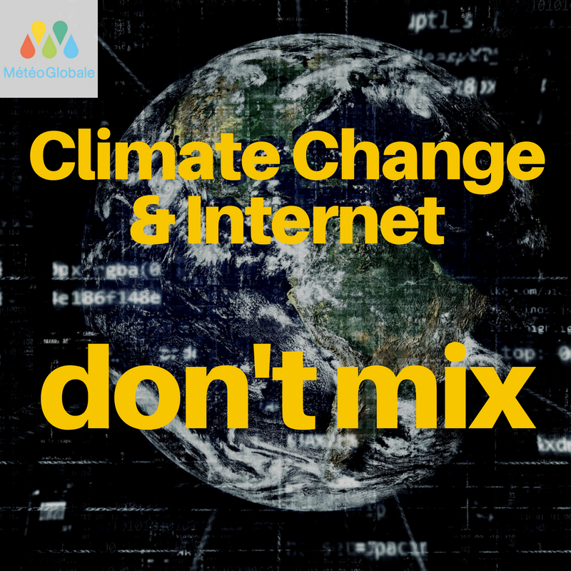 Climate Change and internet