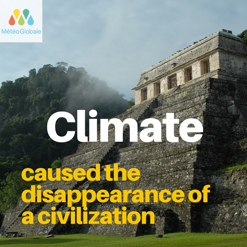 Climate disappearance of a civilization